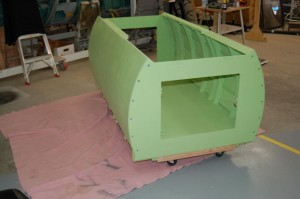 Cockpit tub assembled, just prior to painting.