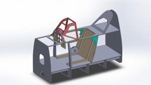 Cockpit model WIP, 07Jun15.