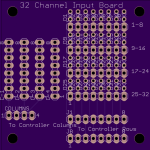 32 channel input board - top